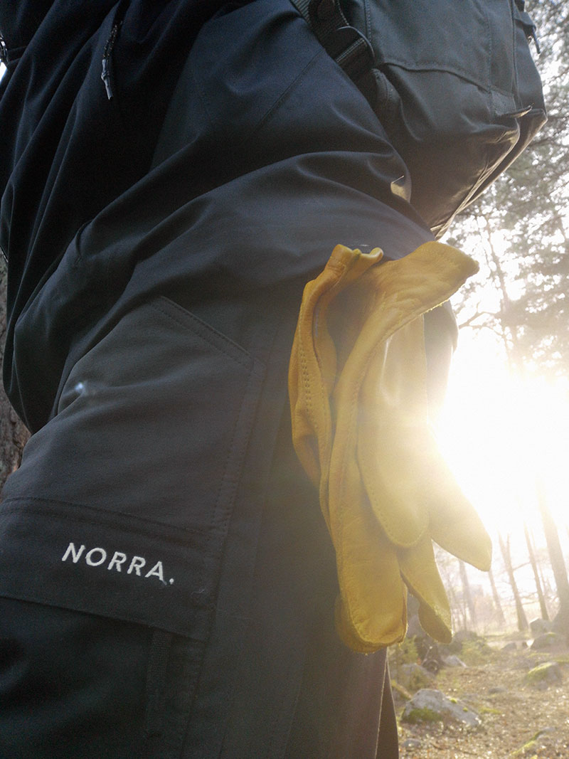 Norra Ljung pants in action