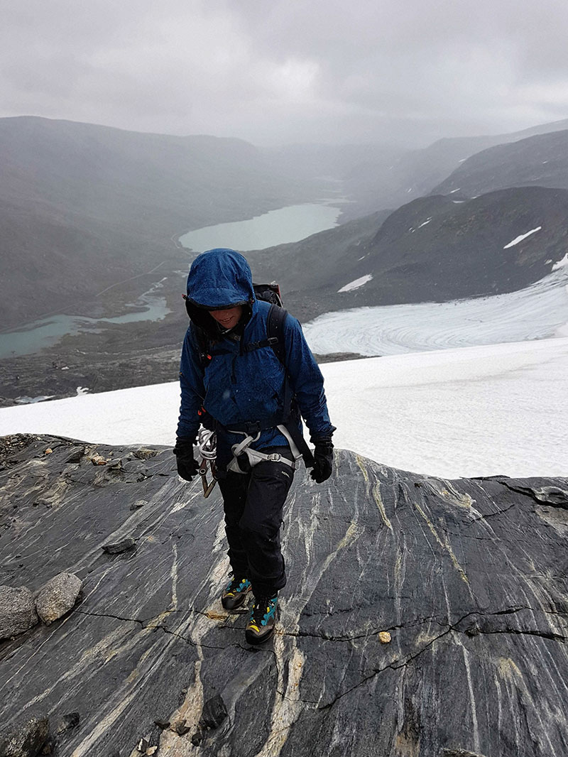 Ljung pants tested on a glacier