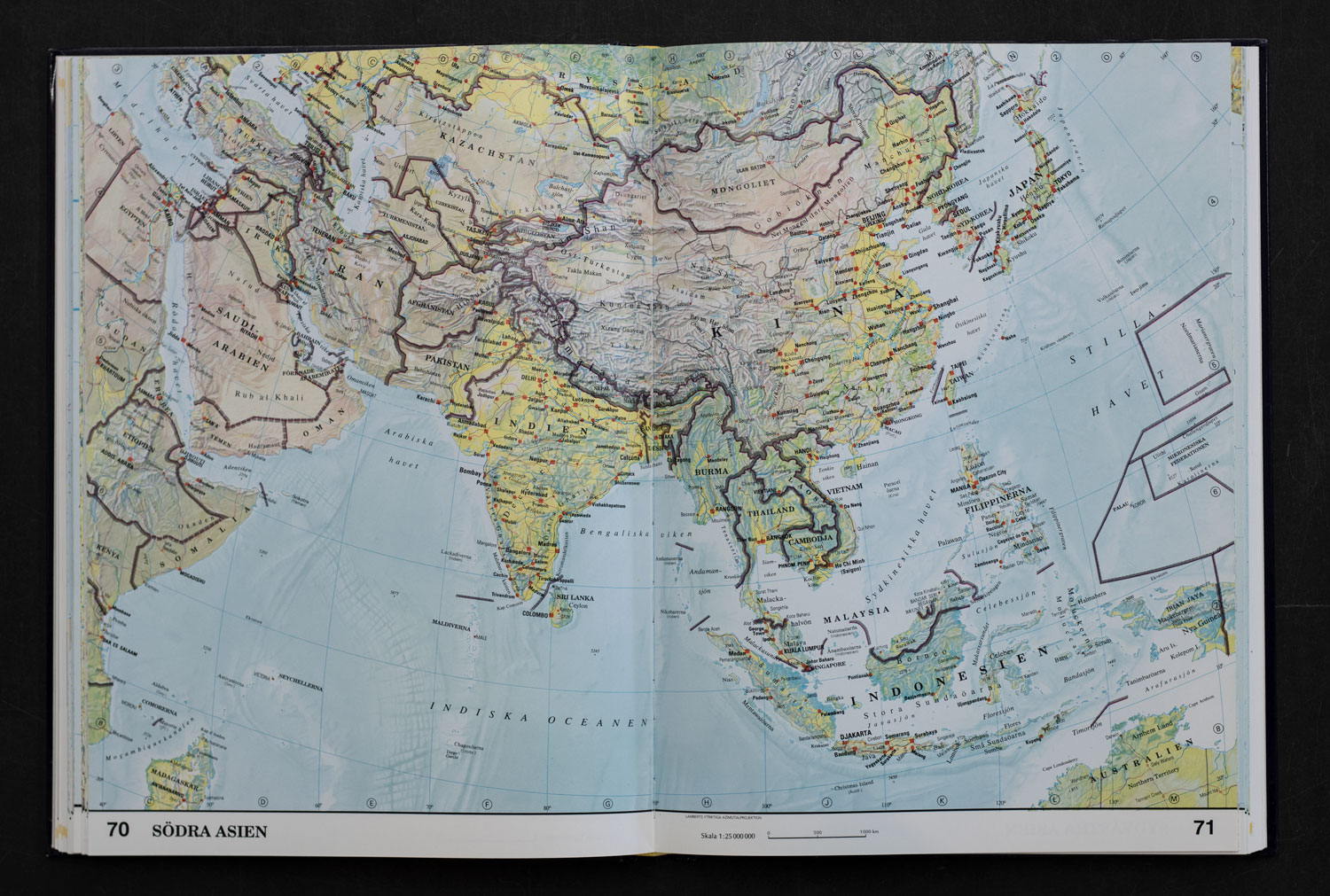 Map over Asia