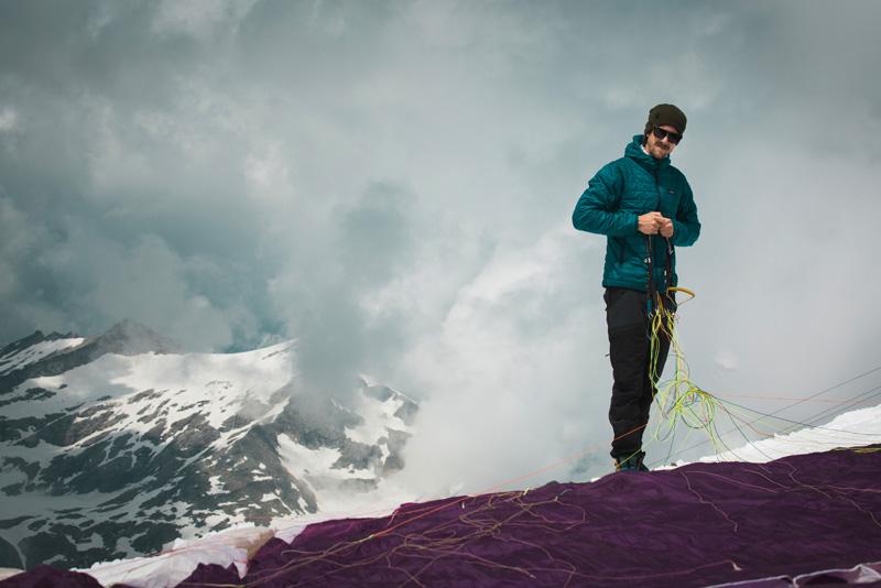 On mountain top